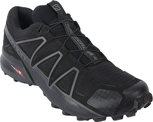 Salomon Unisex's Speedcross 4 Wide Forces Military and Tactical Boot, Black/Wolf, 10