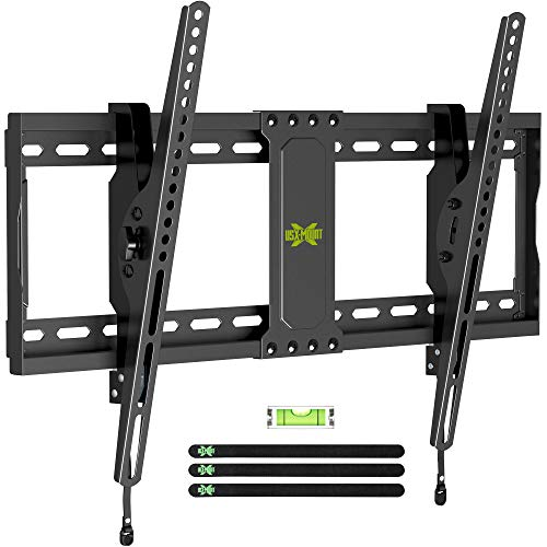 """USX MOUNT Tilting TV Mount, Large Tilting TV Wall Mount for Most 37""""-70"""" TVs, TV Bracket with +12°/-12° of Tilt, Fits Max VESA 600x400 and Weight Capacity up to 132lbs, Easy Install for 16"""", 24"""" Stud"""