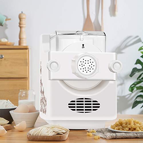 TTLIFE Máquina para Hacer Pasta Eléctrica 9 + 3 tipos de moldes Máquina para Pasta 1 libra de gran capacidad Máquina de fideos Se utiliza para espaguetis, macarrones, envoltorios de bolas de masa