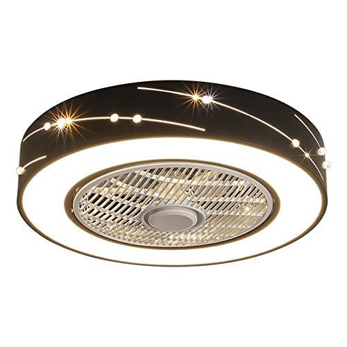 HHGM Ventilador LED Ventilador De Techo LED Luz De Techo con Control Remoto Silencioso Invisible Luz De Ventilador Lámpara De Dormitorio Sala De Estar Jardín De Infantes Habitación De Niños,A