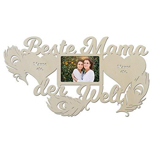 Namofactur Geschenke für Mama I praktische Geschenkidee mit Wunschtext zum Geburtstag Weihnachten Ostern Bilderrahmen 10 x 15 cm (Beste Mama der Welt)