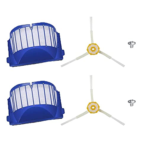 Robot De Cepillo Lateral De 6 Pinceles De La Aspiradora De Robots/Ajuste For Irobot Room.BA 600 610 620 625 630 650 660 (Color : SMT120)