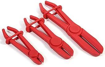 Herramientas mantenimiento automóviles Línea de agua herramienta de sujeción coche de la manguera de nylon Conjunto de combustible Pinza de freno Alicates (3 PCS/Set Red) (Color : Red)