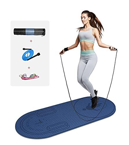 LERYG 8mm Jump Rope Mat Fitness Exercise Mat Durable, Non-Slip,...