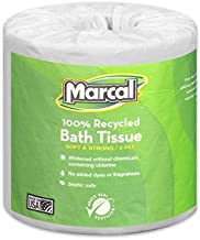 Marcal - MRC6079 Toilet Paper 100% Recycled - 2 Ply White Bath Tissue, 336 Sheets Per Roll - 48 Rolls per Case Green Seal Certified Toilet Paper 06079