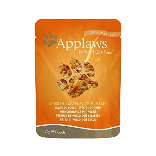 Applaws Katze Hühnchenbrust und Kürbis, 12er Pack (12 x 70 g)