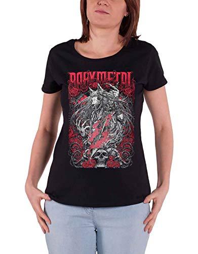 Babymetal T Shirt Rosewolf Band Logo Nue offiziell Damen Skinny Fit