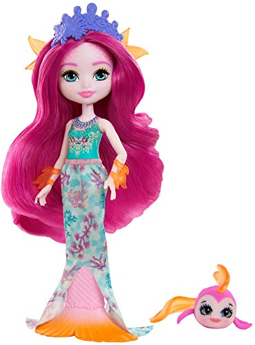 Enchantimals- Royal Maura Mermaid & Glide Doll, Color morado (Mattel GYJ02)