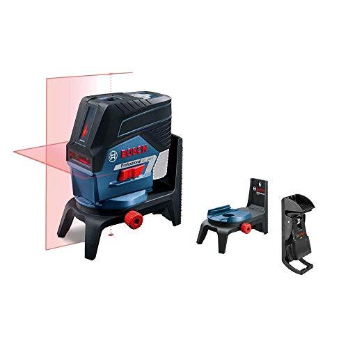 Bosch Professional 12V System Linienlaser GCL 2-50 C (Ohne Akku und Ladegerät, roter Laser, Innenbereich, mit App-Funktion, Halterung, Klammer, Arbeitsbereich: bis 20 m, in L-BOXX)