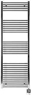 Eléctrico Radiador de baño, Cromo, recto, de gran calidad, incluye varilla de calefacción y cartucho calentador KTX-24, disponible en varios tamaños, toallas, toallero, 1775h x 750b