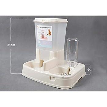 Fablcrew Distributeur Automatiques de Nourriture et d'eau pour Chat et Chien, Distributeur Eau et Croquettes Automatique pour Animaux Domestiques,Distributeur Gamelle de Nourriture et d'eau