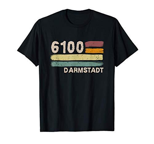 6100 Darmstadt Retro Postleitzahlen Alte PLZ Vintage T-Shirt