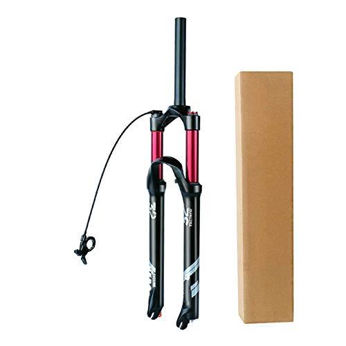 VPPV Forcella MTB 26 27,5 29 Assorbitore Bicicletta Lega Alluminio 1-1 8  Tubo Dritto Bike Suspension Steerer Forcelle Corsa 140 mm (Colore : Remote Control - A, Size : 26 inch)
