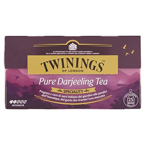 Twinings - Tè nero Pure Darjeeling, 25 bustine, 1 confezione (1 x 50 g)