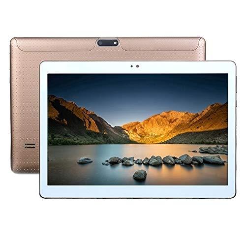 Computadoras laptop 4G Telefoon Tablet PC, 10.1 inch, 2GB+32GB, Dual SIM, Ondersteuning GPS, Netwerk: 4G, met Willekeurige Kleur Levering Lederen Case (Kleur : Goud)