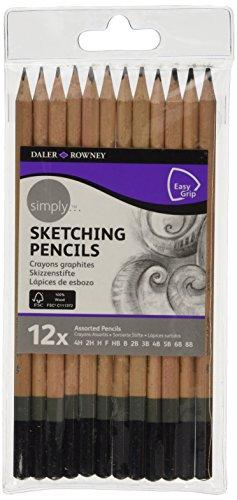Daler Rowney - 644200012 - Kit De Loisirs Créatifs - 12 Crayons En Graphite Simply