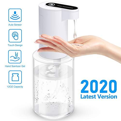 IVSO Dispensador Gel Automatico, 350ML Dispensador Jabon con Sensor Dispensador de Gel Desinfectante Manos Dispensador Automatico Gel Dispensador para el hogar Escuela Oficina Hotel