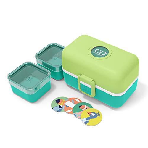 monbento - MB Tresor grün Apple Brotdose Kinder mit Trennwand - Bento...