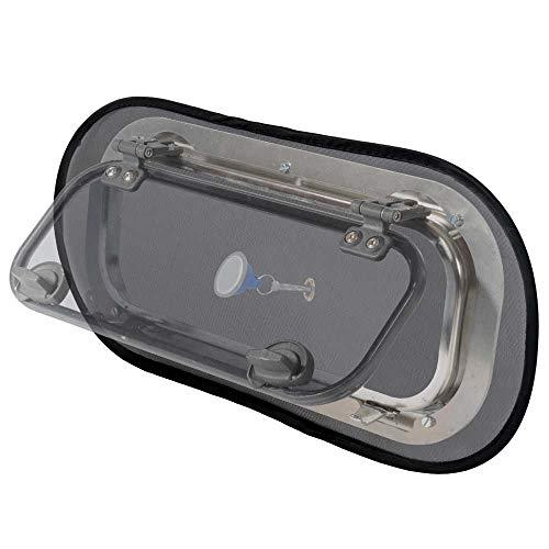 Waterline Design Insektenschutz für Bootsbeleuchtung / Fenster Moskitonetz in Universalgröße von innen mit Magnet Passend für alle Marken (#1430, 2er Pack)