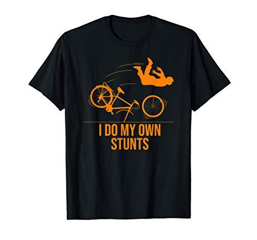 Funny I Do My Own Stunts Gift | Cute Mountain Biker For Kids T-Shirt