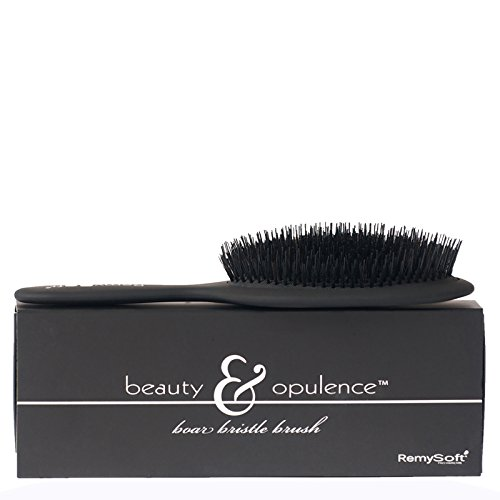 Price comparison product image RemySoft Beauty & Opulence Boar Bristle Brush - Safe For Hair Extensions,  Weaves and Wigs