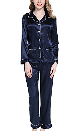 Sihuan Mujer Pijama 2 Piezas Camisón Satén Ropa