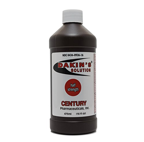 Century Pharmaceuticals 0436-0936-161trength Sodium Hypochlorite 0.25 %, Wound Therapy for Acute and Chronic Wounds by Century Pharmaceuticals, 16 FL. OZ