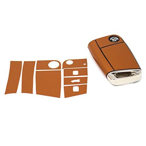 Finest Folia K142 Étui de protection pour clé de voiture à 3 boutons (cuivre mat métallique)