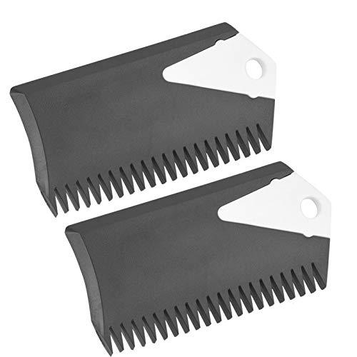 Yosoo Health Gear Peine de Cera para Tabla de Surf, 2 Piezas de Peine de Cera de PVC para Surf, Accesorio de Herramienta de Limpieza de Cera para Tabla de Surf para Tabla de Surf monopatín