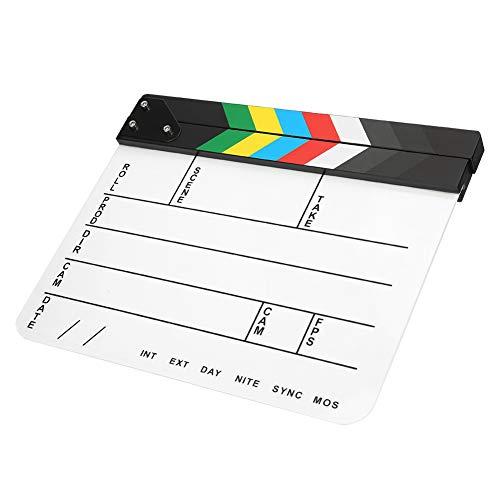 Fotografie Tool Director Clapperboard, zum Bearbeiten, für 30x25CM(Color bar whiteboard (PAV1CWE4))