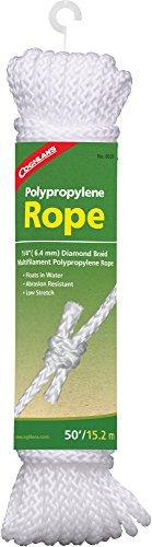 Coghlan's Polypropylene Rope, 50-Feet, White