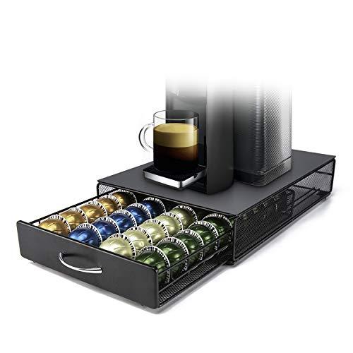 Nespresso Vertuoline Cassetto Porta Capsule HiveNets Macchina da caffè Supporto in metallo compatibile con cestelli portaoggetti Capacità 40 capsule