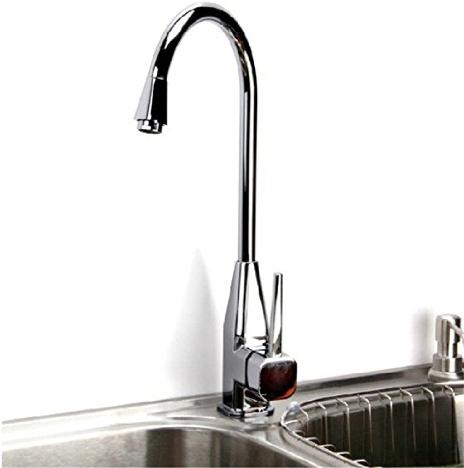 Hlluya Professional Sink Mixer Tap Kitchen Faucet Kitchen faucet, zinc alloy kitchen faucet, you can turn the COLD WATER FAUCET