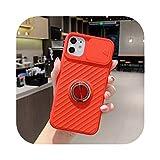 Xahoc for iPhone SE 2020用スライドカメラ保護ケース11 11Pro Max XR XS Max X 8 7 6 6S Plus 11Pro 11耐衝撃リングホルダーソフトケース-T8-for iPhone 11