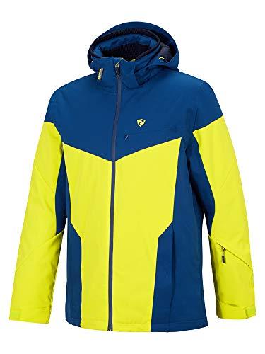 Ziener Herren Toccoa Man (Jacket Ski Snowboard-Jacke/Atmungsaktiv, Wasserdicht, Light Green.Nautic Structure, 50