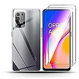 QULLOO per Oppo A94 5G Cover [1 Pezzi] + Oppo A94 5G Pellicola Vetro Temperato[2 Pezzi],9H...