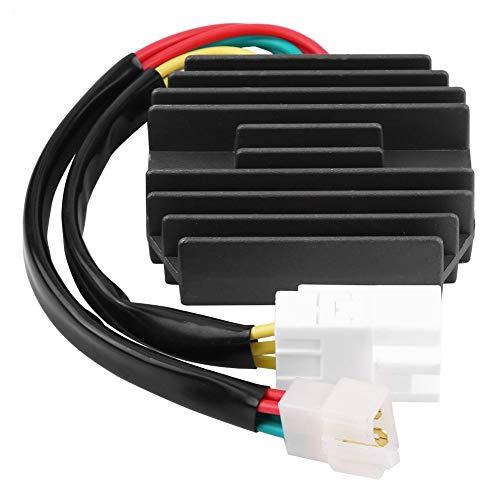 Aramox Voltaje Rectificador, Regulador de Voltaje de Motocicleta para Rectificador Negro para Rectificador BL 218214 RV