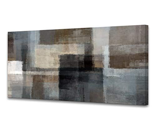 Cao Gen Decor A62475 Canvas Prints Abstract Wall Art Print Paintings Grey and Brown Home Decor Stretched and Framed Ready to Hang for Living Room Bedroom and Office Home Kitchen Artwork XXLarge 30x60