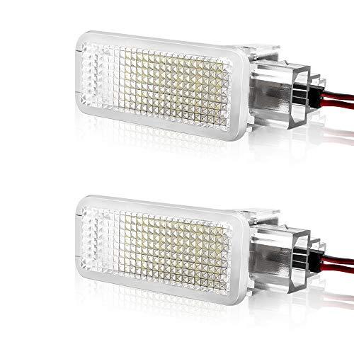 Safego Luci Targa a LED per Auto Lampada Targa 2835 SMD 6000K Xeno Bianco per A-u-d-i A2/A3/S3/A4/S4/A6/A7/A8/S8/RS4/R8 ecc, 2 Pezzi, 1 anno di Garanzia