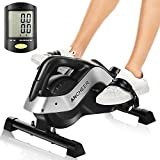 ANCHEER Pedal Exerciser, Under Desk Cycle Mini Exercise Bike for Leg and Arm Exercise with LCD...
