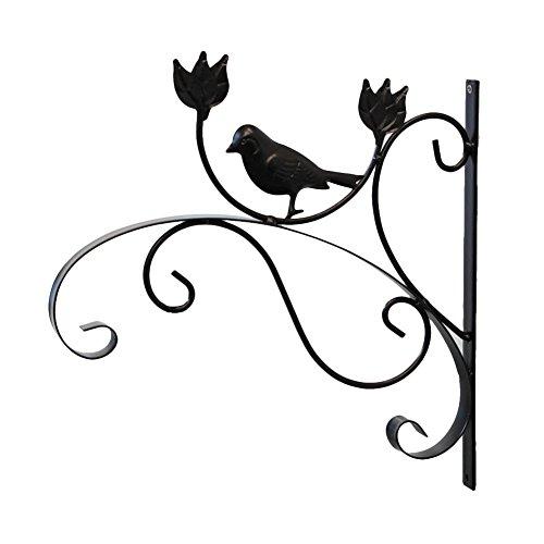 Titulaire de crochet en fer pour pot de fleurs suspendus titulaire support de fleurs support de suspension fleurs pot titulaire jardin panier décoration murale Mount White and Black