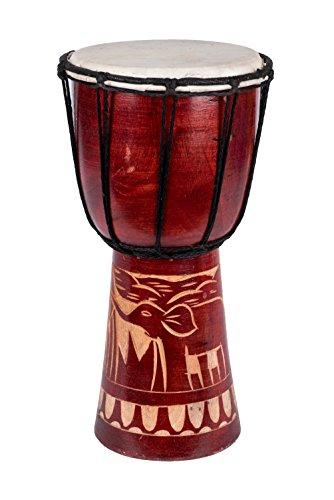 60 modelos de 30cm, tambor yembé para niños + instrucciones, 30cm Djembe Elefant T1