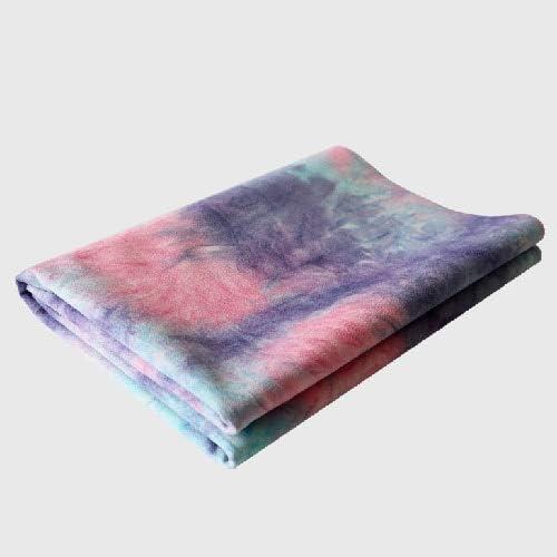YOOMAT Tapis de Yoga Portable 1,5 mm Ultra-Fine en Daim Tapis de Yoga en Caoutchouc Naturel Pliant Facile à Nettoyer Serviette de Yoga