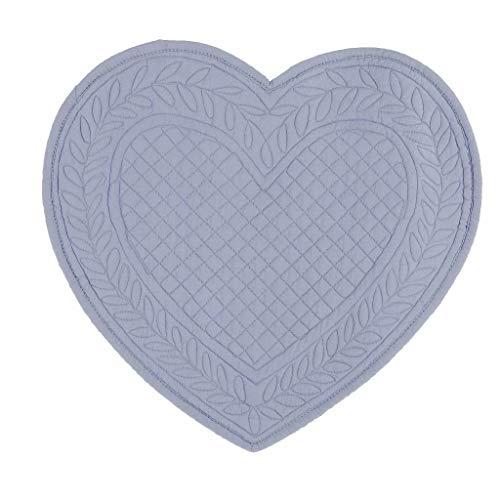 BLANC MARICLO' Juego de 2 manteles individuales americanos corazón celeste 30 x 32 cm A2068799CE