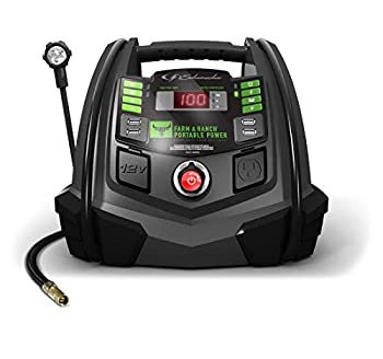 Schumacher Rechargeable AGM Jump Starter for Gas Diesel Vehicles - 1200A with Air Compressor and 12V USB/AC Power Station to Charge Phones Accessories