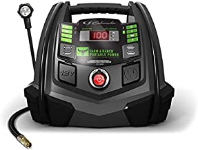 Schumacher Rechargeable AGM Jump Starter for Gas, Diesel Vehicles - 1200A with Air Compressor and 12V USB/AC Power Station to Charge Phones, Accessories