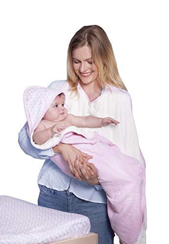 Baby-To-Love Serviette Papillon à Capuche Bain Bébé (Pink Heart)