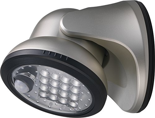 LIGHT IT! By Fulcrum, 16-LED Motion Sensor Security Light, Battery Operated, Silver