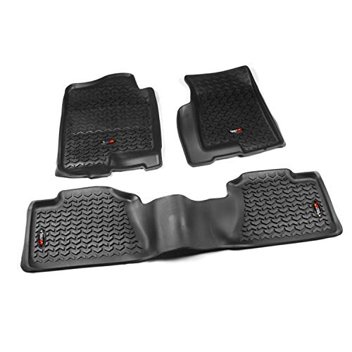 Rugged Ridge 82989.02, All Terrain Floor Liner Kit, Front/Rear, Black, 1999-2006 Chevrolet / GMC Silverado / Sierra