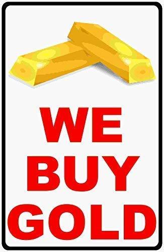 TammieLove We Buy Plaque en métal avec Inscription en Anglais « Inform Customers That Your Business is a Buyer » 20,3 x 30,5 cm